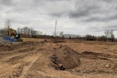 Maart 2021 - de grond wordt bouwrijp gemaakt